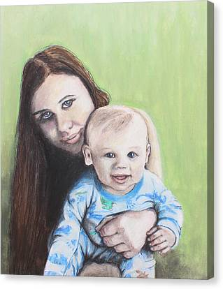 Mother And Son Canvas Print by Jeanne Fischer