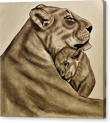 Mother And Son Canvas Print by Michael Cross
