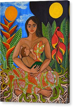 Mother Earth - Nourish  Canvas Print by Jennifer Mourin