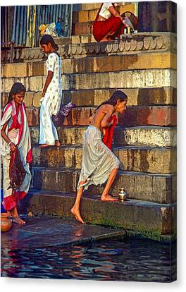 Mother Ganges Canvas Print by Steve Harrington