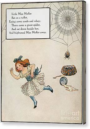 Little Miss Muffet Canvas Print - Mother Goose, 1915 by Granger