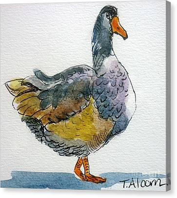 Mother Goose - Original Sold Canvas Print by Therese Alcorn