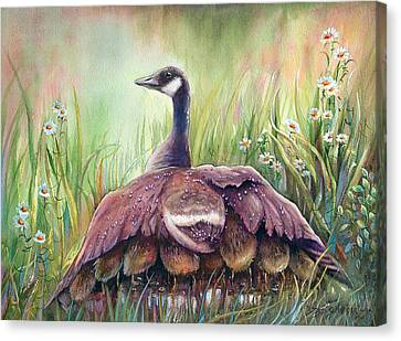Canvas Print featuring the painting Mother Goose by Patricia Schneider Mitchell