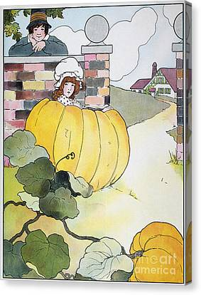 Mother Goose Canvas Print - Mother Goose: Pumpkin by Granger