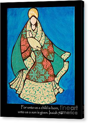 Mother Mary And Baby Jesus Canvas Print