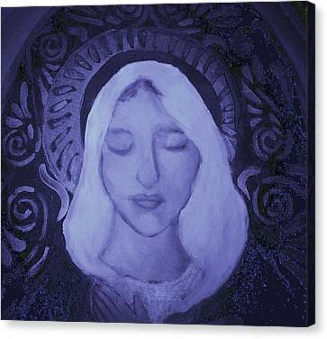 Mother Mary I Canvas Print by Shirley Moravec