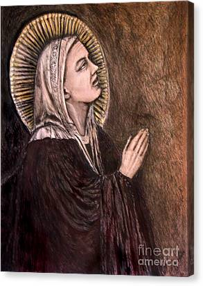 Mother Mary  Canvas Print by Sandra Schroeder
