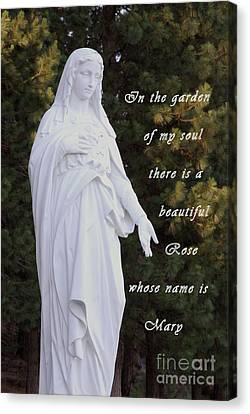 Mother Mary Canvas Print by Sharon Elliott