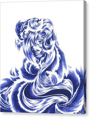 Mother Nature - Face Of The Sea Canvas Print by Alice Chen