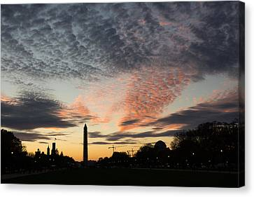 Mother Nature Painted The Sky Over Washington D C Spectacular Canvas Print by Georgia Mizuleva