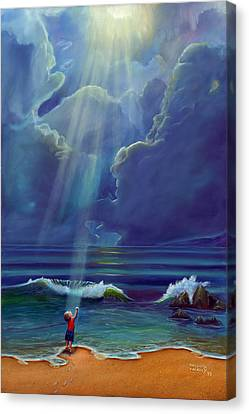 Mother Nature's Kiss Canvas Print by Stephen Kenneth Hackley
