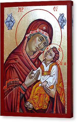 Mother Of God Canvas Print by Filip Mihail