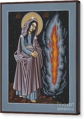 Canvas Print featuring the painting Mother Of God Of Kosovo 087 by William Hart McNichols