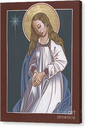 Mother Of God Waiting In Adoration 248 Canvas Print