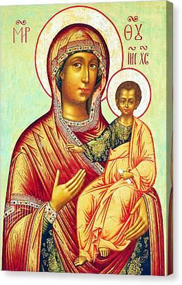 Mother Of Jesus Canvas Print by Munir Alawi