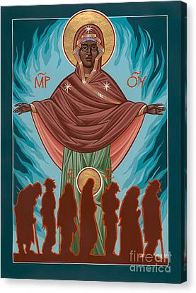 Mother Of Sacred Activism With Eichenberg's Christ Of The Breadline Canvas Print