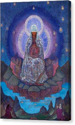 Mother Canvas Print - Mother Of The World by Nicholas Roerich
