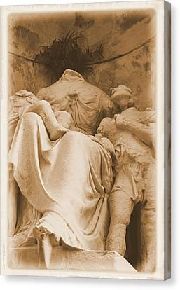 Canvas Print featuring the photograph Mother With Children by Nadalyn Larsen