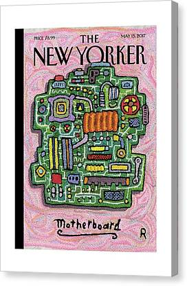 Motherboard Canvas Print - Motherboard by Roz Chast