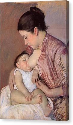Motherhood Canvas Print by Marry Cassatt