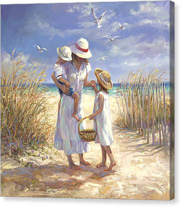Mothers Day Beach Canvas Print by Laurie Hein