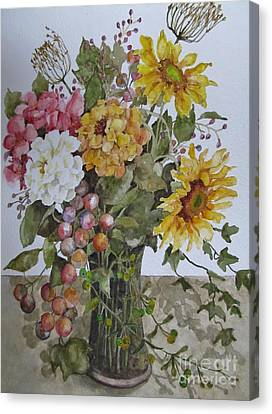 Mother's Day Bouquet Canvas Print by Karen Olson