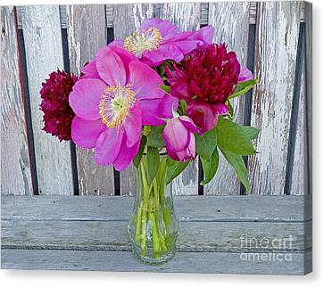 Mother's Day Bouquet Canvas Print by Nick  Boren