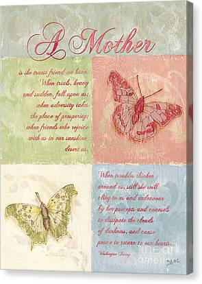 Mother's Day Butterfly Card Canvas Print by Debbie DeWitt