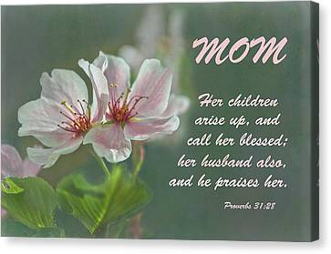 Mothers Day Card For Mom Canvas Print by Sandi OReilly
