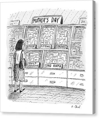 Pity Canvas Print - Mother's Day Cards by Roz Chast