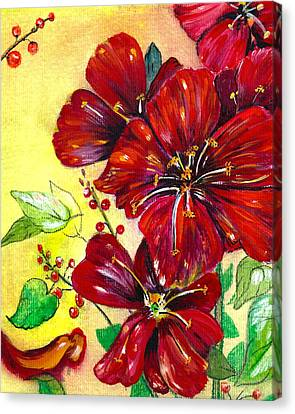 Mother's Day Red Velvet Canvas Print by M E Wood