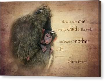 Mother's Love Canvas Print by Barbara Orenya