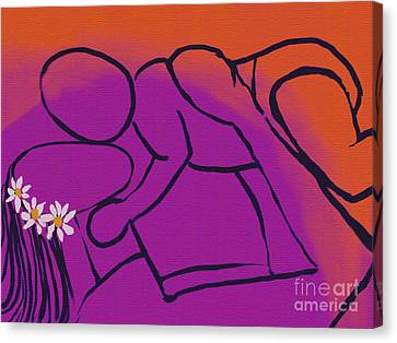 Mother's Love Canvas Print by Haleh Mahbod