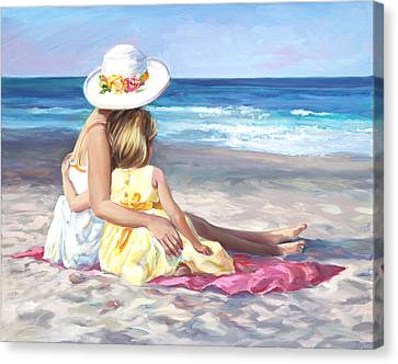 Mother's Love Canvas Print by Laurie Hein