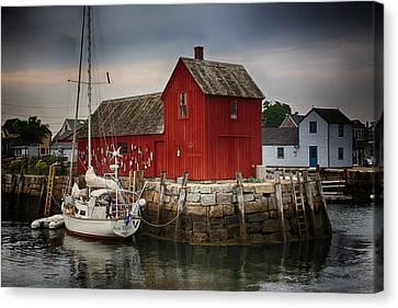 Fishing Shack Canvas Print - Motif 1 - Rockport Harbor by Stephen Stookey