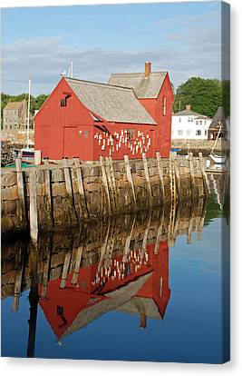 Canvas Print featuring the photograph Motif 1 With Reflection by Richard Bryce and Family