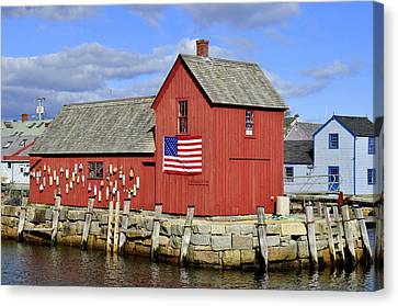Canvas Print featuring the photograph Motif In Rockport by Caroline Stella