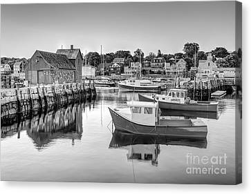 Motif Number 1 Bw Canvas Print by Susan Candelario