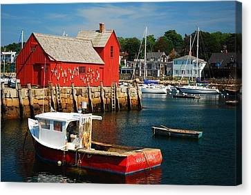 Motiff 1 In Rockport Canvas Print by James Kirkikis