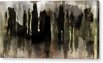 Canvas Print featuring the digital art Motion Abstract by Danica Radman