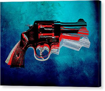 Motion Gun Canvas Print by Gary Grayson