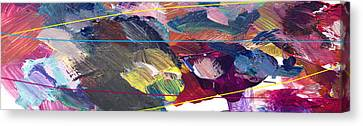 Abstract Expressionism Canvas Print - Motion Slow by David Lloyd Glover