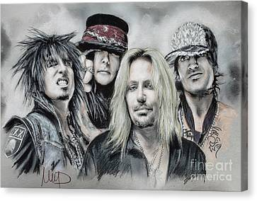 Motley Crue Canvas Print by Melanie D