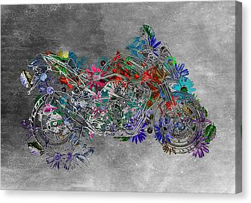 Moto Art  Floral Sp01bb Canvas Print by Variance Collections