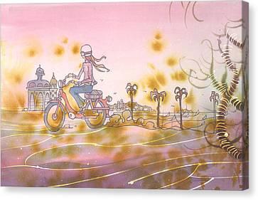 Moto Chic Canvas Print