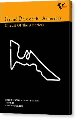 Moto Gp Of The Americas Canvas Print by Mark Rogan