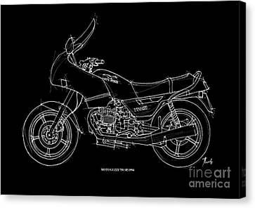Moto Guzzi 750sp 1994 Canvas Print by Pablo Franchi