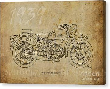 Moto Guzzi Airone 250 1939 Canvas Print by Pablo Franchi