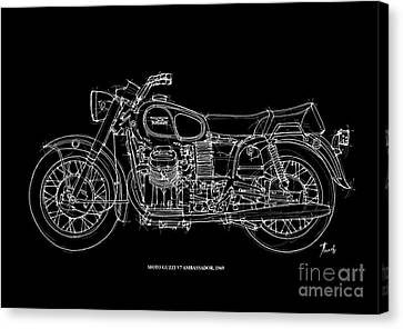 Moto Guzzi Ambassador 1969 Canvas Print by Pablo Franchi