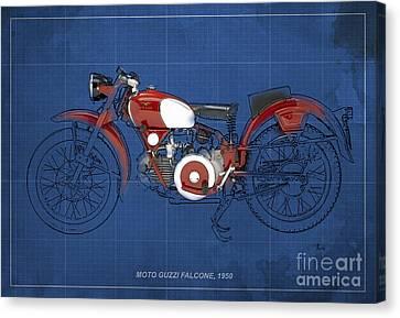 Moto Guzzi Falcone 1950 Canvas Print by Pablo Franchi